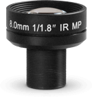 8mm F#1.8 Lens - 1/1.8 Inch - M12 Thread